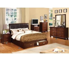ERIC QUEEN PLATFORM BED FRAME WITH DRAWERS