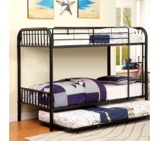 Rainbow Twin / Twin Bunk Bed - Black