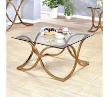 Rene Coffee Table in Champagne