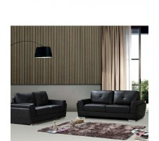 Ridley Sofa and Loveseat Black