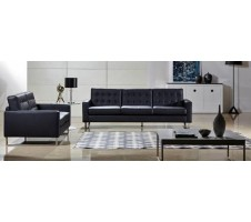 Park Heights Sofa and Loveseat - Black