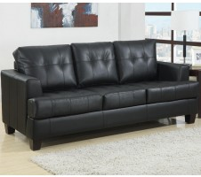 Samuel Leather Sofa (black)