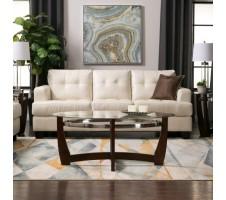 Samuel Leather Sofa (cream)