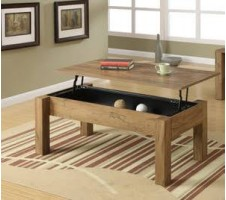 Pebble Beach Coffee Table w/ Lift Top Storage Drawer
