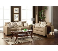 Hermosa Sofa + Loveseat (light brown)