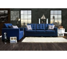 Ravel 2piece Sofa and Loveseat - blue