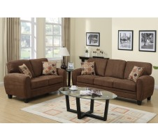 Ruby Sofa and Loveseat (saddle brown)
