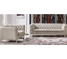 Stella 2piece. Sofa and Loveseat - beige