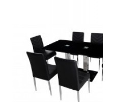 Stockholm 5pc. Dining Set with Black Chairs