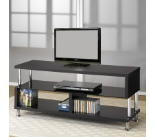 Neo Contemporary Black Finish TV Stand