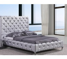 Crysta Queen Platform Bed -silver