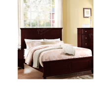 Vermont Queen Bed in dark brown