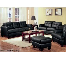 Samuel Sofa and Loveseat (black)