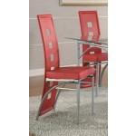 Los Feliz Metal Dining Chair, Red