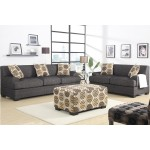 Damascus Sofa & Loveseat Set - Charcoal