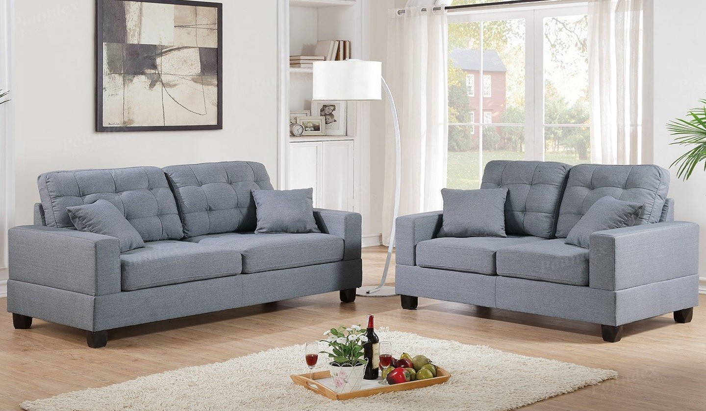 Incredible Sale Anse Grey Fabric Sofa And Loveseat Set Sofa Sets Camellatalisay Diy Chair Ideas Camellatalisaycom