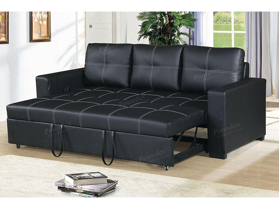 Sale Azis Convertible Sofa In Black Deals