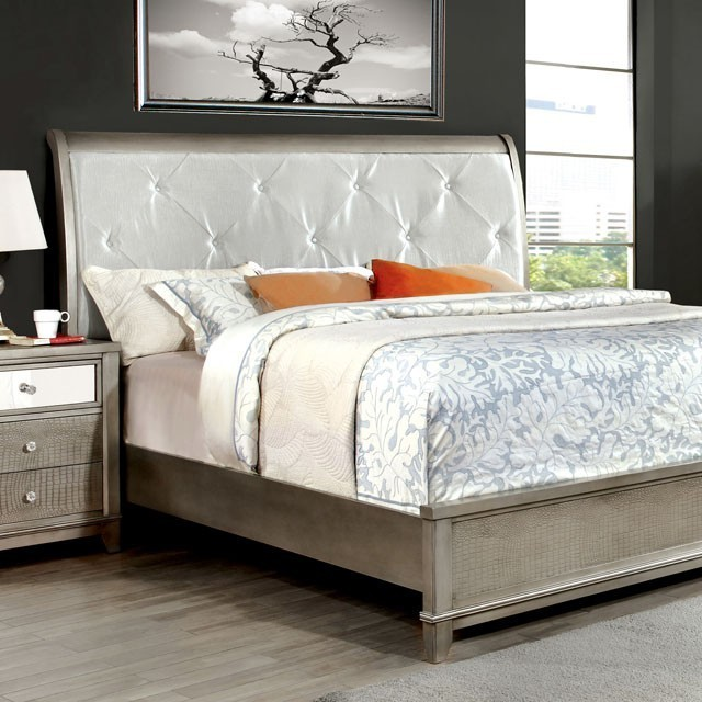 silver bed frame queen bryant bed frame in silver bedroom 5212