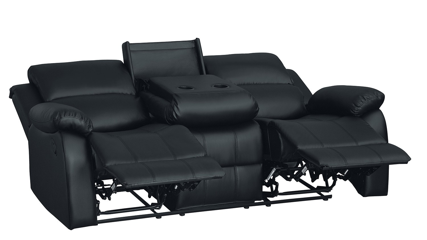 Picture of: Sale 9928blk 3 Clarkdale Double Reclining Sofa With Center Drop Down Cup Holders Deals