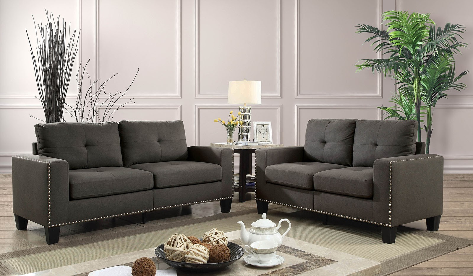 Attwell 2pc Sofa Loveseat Set