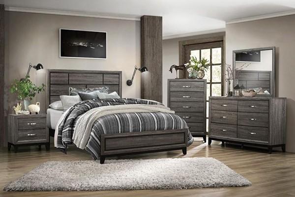 watson 4pc. queen bedroom set in grey oak - bedroom sets