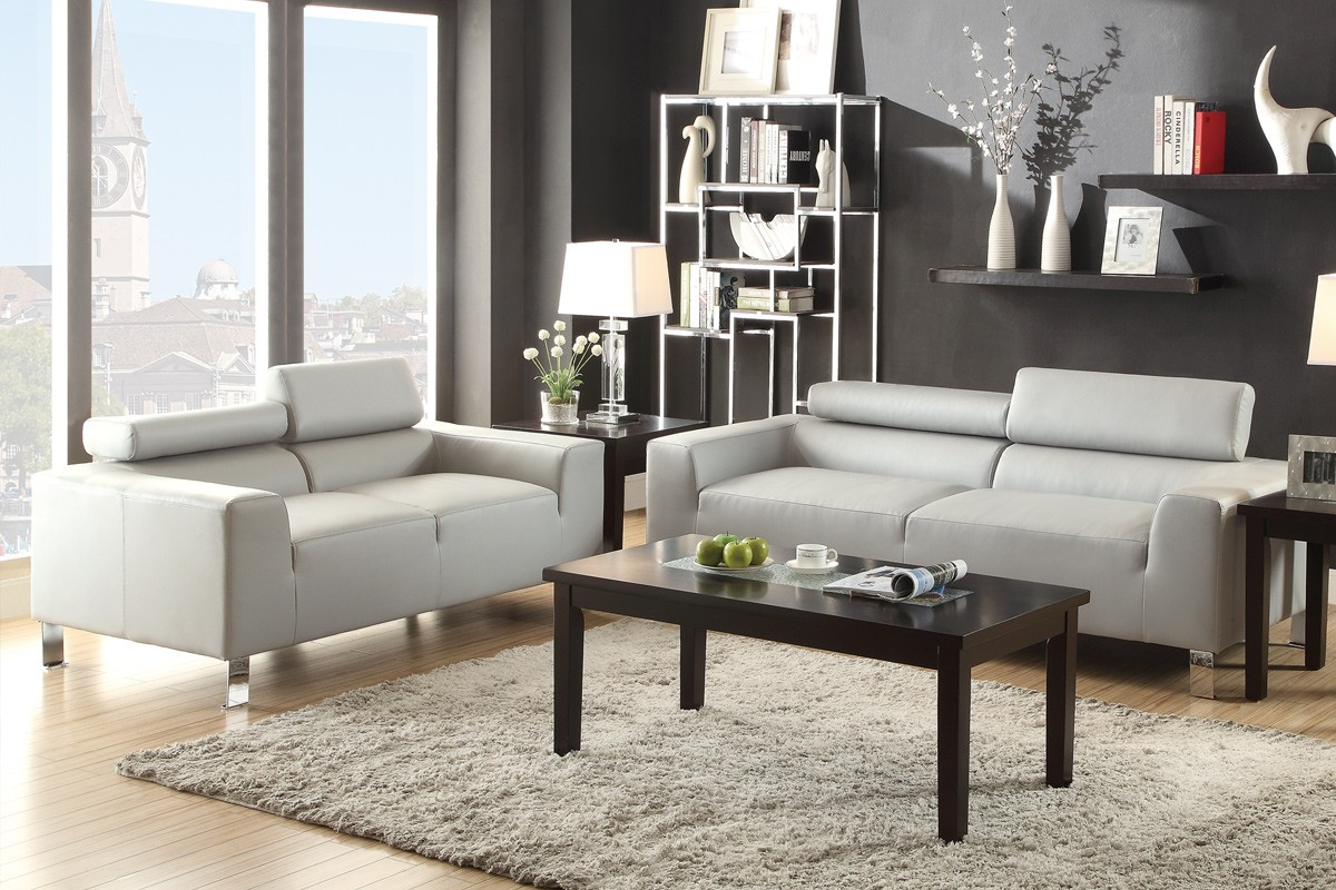 Eclipse Sofa And Loveseat Light Grey Sofa Sets