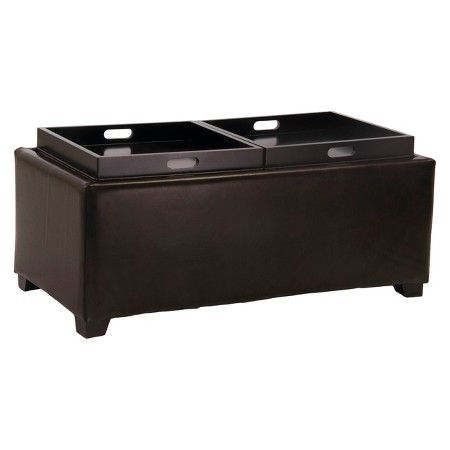 Maxwell Double Flip Tray Tail Ottoman With Storage