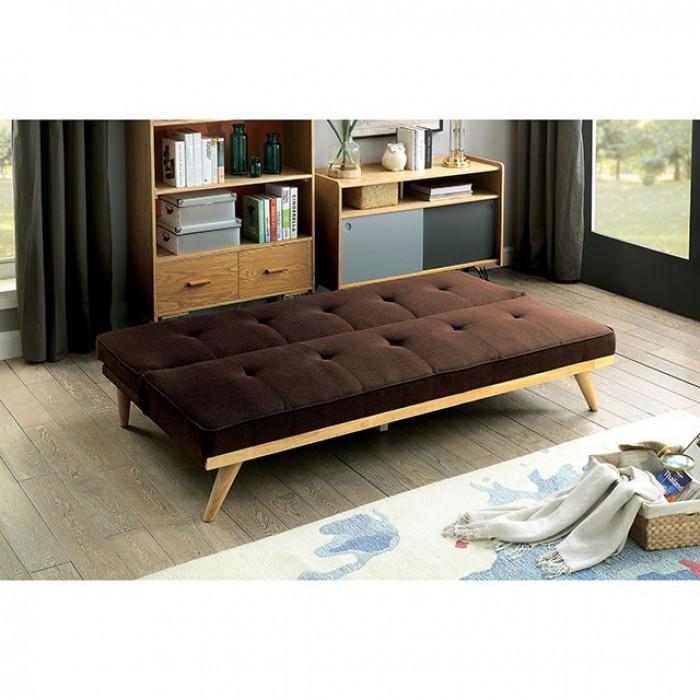 SALE! Wayfair Mid Century Sofa Bed In Dark Brown
