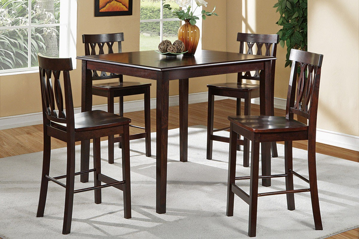 Abbie 5pc Pub Table And Chair Set