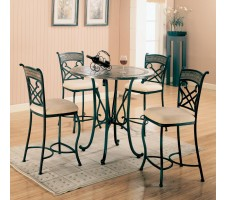 5 Piece Glass Counter Height Table