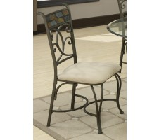 5 Piece Glass Side Chair