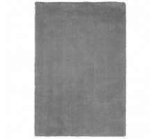 Zandi Shagg Area Rug in Silver Grey