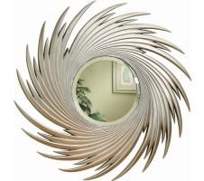 Silver Round Spiral Mirror