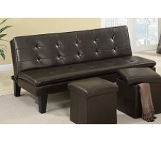 F7199 Futon Sofa bed with ottoman