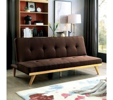 Lyra Mid Century Sofa Bed in Dark Brown