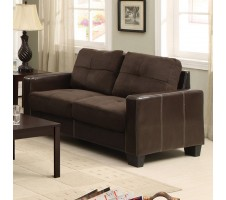 Alexis Loveseat in Chocolate