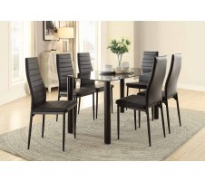SALE ! Emer 7pc. dining set in black