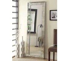 Aria Floor Mirror in silver