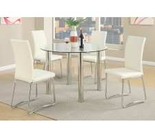 Zacky 5pc Dining Set in White