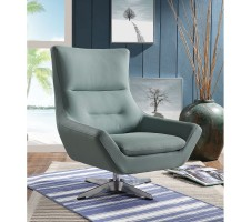 EUDORA  CHAIR GRAY STONE LEATHER GEL
