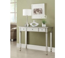 Luna Mirrored Accent Table with Drawer