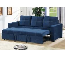 Azis Convertible Sofa in Navy