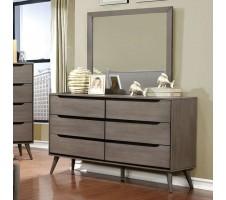 Lennard Mid Century Dresser in grey