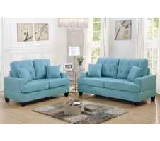 SALE !Leighton  2pc. Sofa and Loveseat in Blue