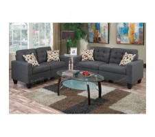 Windsor Sofa and Loveseat - blue grey