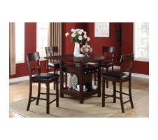 Laughton 5pcs Counter Height Dining Set with Lazy Susan