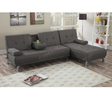 SALE! Hoover 2pc. Sofa bed Sectional with drop down tray