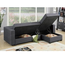 Levon 2pc. Sectional with fold down and storage