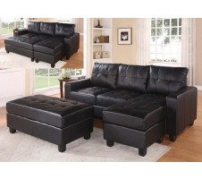 Willow Reversible Sectional & Ottoman