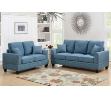 Willow 2pc. Sofa & Loveseat in Blue
